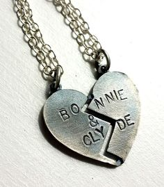 Bonnie and Clyde Necklaces