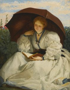 Reading on a Sunny Afternoon. Charles Edward Perugini (British, 1839-1918). Oil on canvas.