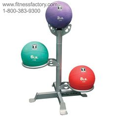 The new Body Solid medicine ball rack GMR5 provides quality, customizable storage for just about any size medicine ball or dual grip medicine ball. The two rings are adjustable 360 degrees for perfect placement in any room.