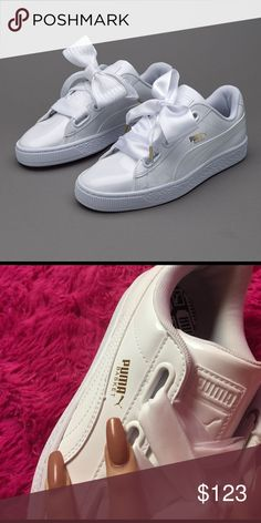 Rihanna puma bow cute white sneakers Kylie Jenner New never worn comes with  box Puma Shoes ea6c4d8bc