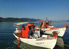 Vissersbootje bij Evia