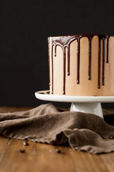 Rich Dark Chocolate Cake With A Silky Mocha Swiss Meringue Buttercream Only Chocolate Cake Recipe, Chocolate Mocha Cake, Chocolate Buttercream, Bolo Mocha, Chocolates, Cold Cake, Cake Ingredients, Swiss Meringue, Let Them Eat Cake