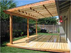 Amazing Covered Deck Design Ideas To Inspire You - Pergola Ideas Wood Patio, Patio Roof, Pergola Patio, Diy Patio, Pergola Ideas, Roof Ideas, Cheap Pergola, Pergola Kits, Patio Table
