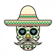 Diseño de calavera mexicana Vector Gratis