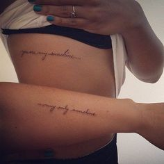 You Are My Sunshine (37 mother daughter tattoos)