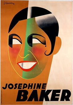 Poster of Josephine Baker by Jean Chassaing, 1931