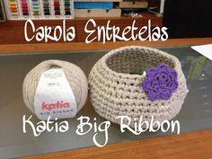 Cesto hecho con Katia Big Ribbon, en Carola Entretelas
