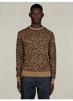 Men's Leopard Print Knit