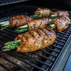 """Savory chicken-wrapped asparagus by Fit Men Cook will blow up your taste buds, not your diet. Energize poultry and veggies with Kevin's """"cup of joe"""" coffee seasoning. Fire up the grill and go paleo. Like if you're all about that protein. Share with a friend who needs meal plan inspiration."""