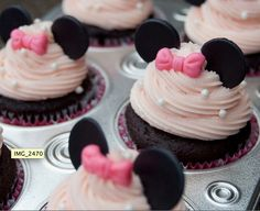 minnie mouse cupcake by laverne