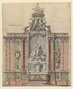 Paris, cathédrale Notre-dame -- troisième projet pour l'autel de la Vierge, 1718 | Flickr - Photo Sharing!