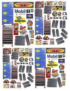 1 Garage Shop Decals for Diecast Model Car Dioramas Toy Garage, Garage Shop, Vitrine Miniature, Car Shop, Diecast Model Cars, Paper Models, Model Building, Paper Toys, Classic Toys