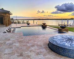 C.M. Custom Pool Designs:  Silver in Pool & Spa Combination 701 sq ft +