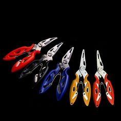 Fishing Plier Scissor Braid Line Lure Cutter Hook Remover Tackle Tool Cutting Fish Use Tongs Scissors Fishing Pliers 4 Colors Fishing Pliers, Fishing Tools, Braided Line, Cool Tools, Tech Gadgets, 2 Colours, Scissors, Happy Shopping, Braids