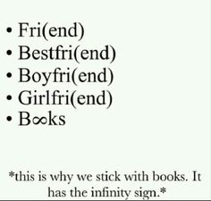 This is why we stick with books. It has the infinity sign.
