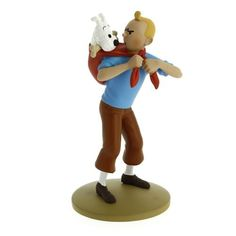 Figura Tintín llevando a Milú Tintín / Moulinsart - Hergé - Rian de Rian