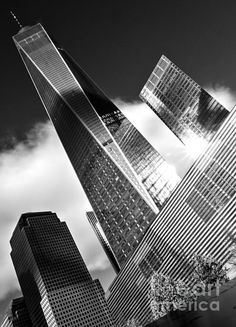 The Freedom Tower Flies - BW - by James Aiken  #jamesaiken #freedomtower #worldtradecenter  @jamesaiken09