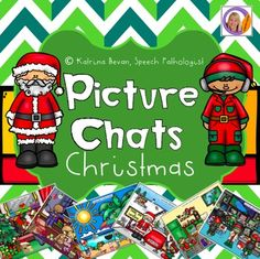 A christmas edition of my best selling Picture Chat products!! Picture Chats help students observe and discover pictures.  By using picture chats, students look at items, characters and events within a picture.Each Picture Chat has picture scenes that focuses on christmas themed activities.