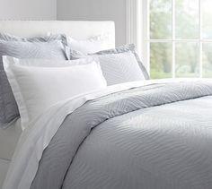 Zebra Matelasse Duvet Cover & Sham | Pottery Barn - pet friendly comforter