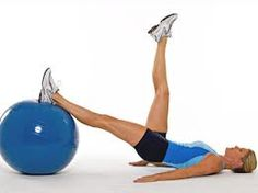 One leg circle is one of the best pilates exercises for testing your core strength. Try to do it with a ball and ankle weights.