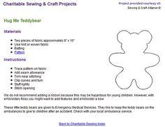Hug Me Teddy Bear - Charity Sewing Project