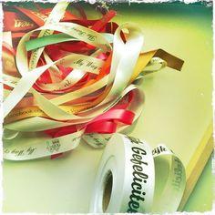 all kind of printed satin ribbons
