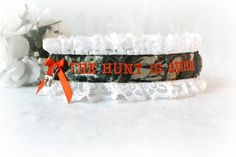 Hunting Camouflage Garter  Hunting Wedding by CreativeGarters