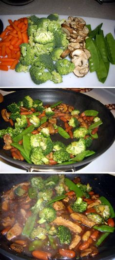 Chicken Teriyaki Stir Fry Ingredients cup fresh orange juice c. minced green onion T Asian Recipes, New Recipes, Dinner Recipes, Cooking Recipes, Favorite Recipes, Chinese Recipes, Healthy Snacks, Healthy Eating, Pasta