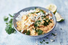 AURA kanakastike Date Night Recipes, 20 Min, Pasta Dishes, Cheeseburger Chowder, Food Inspiration, Camembert Cheese, Risotto, Potato Salad, Mango
