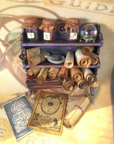 Your place to buy and sell all things handmade Diy Arts And Crafts, Diy Crafts For Kids, Handmade Crafts, Wicca, Antique World Map, Mini Craft, Cricut, Leather Books, Dollhouse Miniatures
