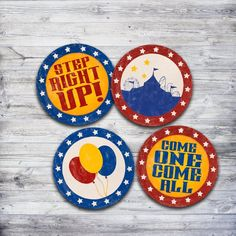 Vintage Circus Printable Cupcake Toppers.  Perfect for any circus party or carnival birthday.