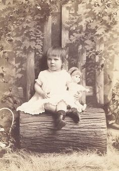 Little girl and her doll