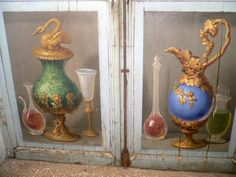 Frescoes by the painter G. Manco from the 1700s in the ancient pharmacy of the Abbey of Trisulti by Luigi Strano, via Flickr