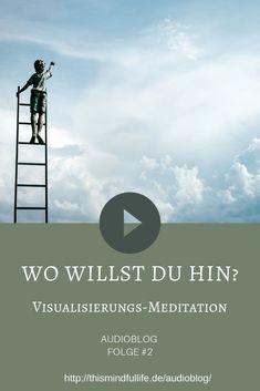 Eine Visualisierungs-Übung ist dazu da, dir einen bestimmten Sachverhalt bildlich vor Augen zu führen. In dieser Visualisierungs-Übung findest du die Ruhe und die Klarheit, die du oft im Alltag vergeblich suchst und du kannst dir darüber im Klaren werden, welche Zukunft du dir bewusst oder unbewusst für dich wünschst. Dazu lenken wir den Fokus auf deine Traumzukunft. Auf ein Leben ohne Beschränkungen und Hindernisse. Guided Meditation, Mental Training, Self Care, Mindfulness, Movie Posters, Life, Board, Self Confidence, Self Awareness