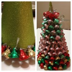 hershey chocolate tree | ... first hershey kiss ring completed right tree covered in hershey kisses