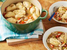 Chicken and Dumplings recipe from Sandra Lee via Food Network