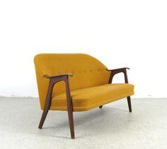 AreaNeo   Danish modern loveseat '50s design organic lounge sofa