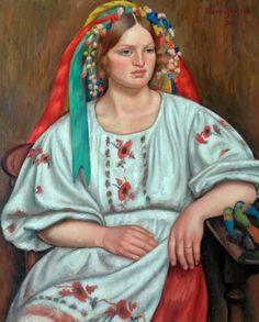 GERTLER, Mark British (1891-1939)_Russian Peasant Girl - 1926
