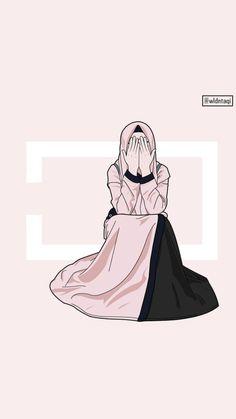 Hijab Dp, Girl Hijab, Mode Hijab, Girl Cartoon, Cartoon Art, Hijab Drawing, Islamic Cartoon, Anime Muslim, Hijab Cartoon