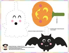 the girls wanted something to hang up as halloween decorations and i made these little characters so happy halloween if you end up using them i wo - Halloween Decorations Printable