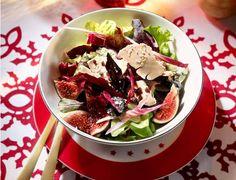 Salade folle : une entrée de fêtes fraîche et gourmande Foie Gras, Cabbage, Tacos, Beef, Vegetables, Ethnic Recipes, Grenade, Cosmopolitan, Lilac