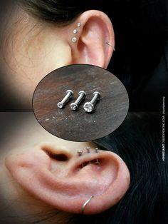 Triple Forward Helix Jewelry (3 in Set) $85 http://csbodypiercing.com/triple-forward-helix-jewelry-3-in-set/