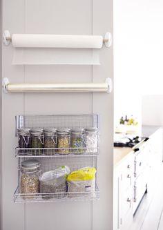 Kitchen Storage Ideas Diy Command Hooks 47 Ideas For 2019 Kitchen Pantry Cupboard, Tidy Kitchen, Kitchen Island Decor, Diy Kitchen Storage, Kitchen Cupboards, Home Decor Kitchen, Kitchen Organization, Kitchen Ideas, Organizing