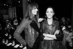 Caroline de Maigret et Sofia Sanchez Barrenechea http://www.vogue.fr/mode/inspirations/diaporama/fashion-week-paris-les-coulisses-automne-hiver-2014-2015-jour-1-fw2014/17722/image/965813#!caroline-de-maigret-et-sofia-sanchez-barrenechea