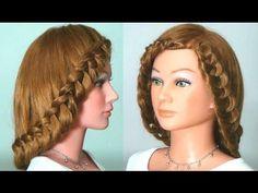 Прическа с плетением на длинные волосы. Braided hairstyle tutorial