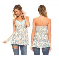 a87379ec3c3 Urban Love Women s Woven Gauze Sequin Lace Tank Cami - Calibre Apparel Hi  Low Dresses