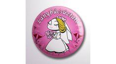 Pink menyasszonyos lánybúcsúztató kitűző, Nicol Party Kellék Bolt Lany, Accessories, Jewelry Accessories