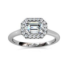 4.5CT Perfect Emerald Cut Halo Russian Lab Diamond Engagement Wedding…