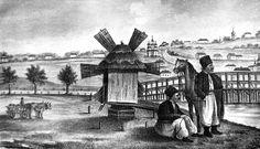 Лубни. Літографія за рисунком М. Арандаренка 1850 р.