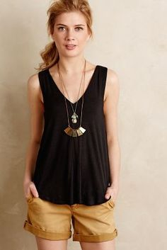 Bordeaux Double-V Swing Tank #anthroregistry